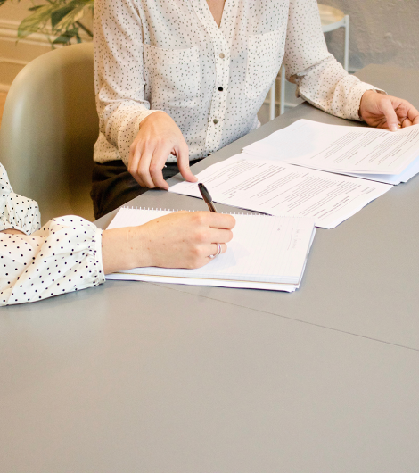 family completely house financial paperwork